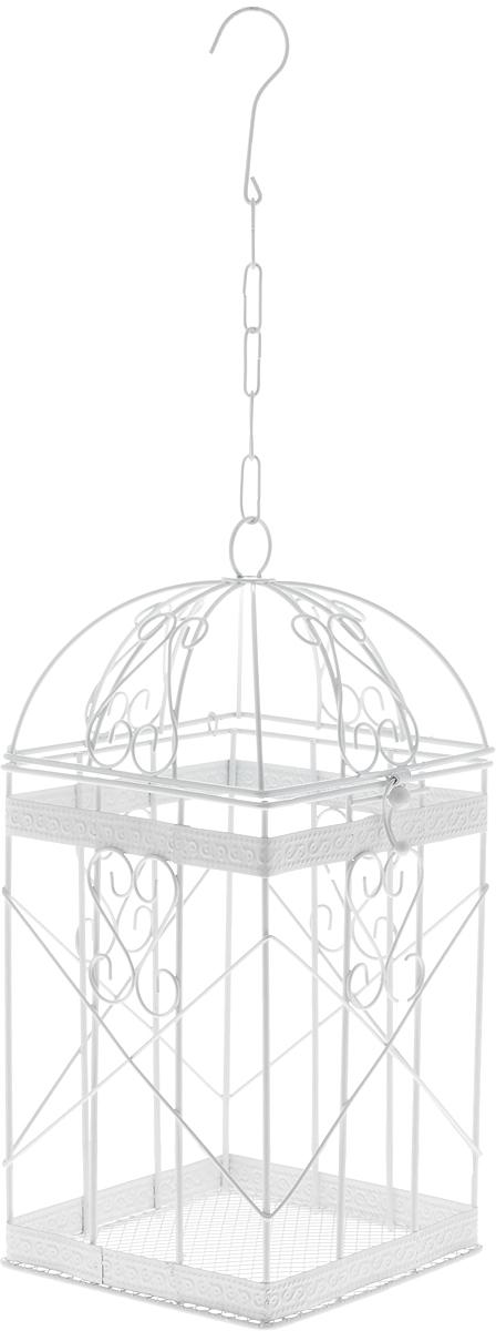 Клетка декоративная Magic Home Узорчатая, 14 х 14 х 30 смC0038550Декоративная клетка Magic Home Узорчатая выполнена из высококачественного металла. Изделие украшено изящными коваными узорами и дополнено крышкой, которая закрывается на специальный замок. Сверху клетки имеется крючок, за который ее можно повесить в любое удобное место. Такая клетка подойдет для декора интерьера дома или офиса. Кроме того, это отличный вариант подарка для ваших близких и друзей.Размер клетки: 14 х 14 х 30 см.