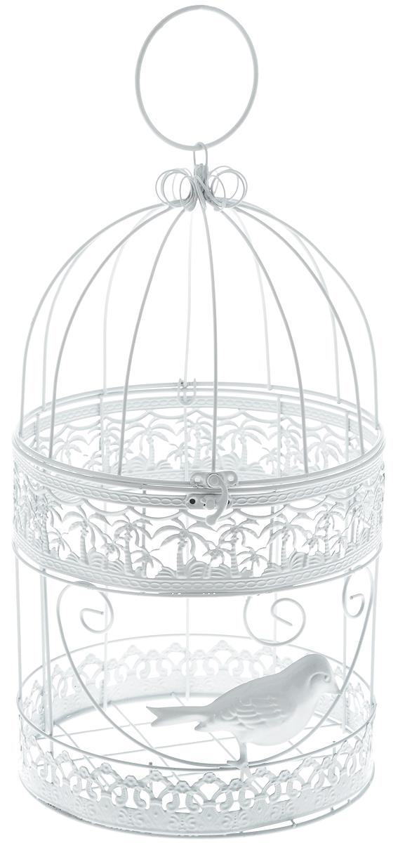 Клетка декоративная Magic Home Белая птица, 19 х 19 х 34 смNN-612-LS-PLДекоративная клетка Magic Home Белая птица выполнена из высококачественного металла. Изделие украшено изящными коваными узорами и дополнено крышкой, которая закрывается на специальный замок. Сверху клетки имеется крючок, за который ее можно повесить в любое удобное место. Такая клетка подойдет для декора интерьера дома или офиса. Кроме того, это отличный вариант подарка для ваших близких и друзей.Размер клетки: 19 х 19 х 34 см.