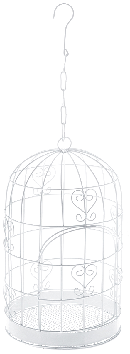 Клетка декоративная Magic Home Завитки, 17 х 17 х 30 смRSP-202SДекоративная клетка Magic Home Завитки выполнена из высококачественного металла. Изделие украшено изящными коваными узорами и дополнено декоративной дверцей. Сверху клетки имеется крючок, за который ее можно повесить в любое удобное место. Такая клетка подойдет для декора интерьера дома или офиса. Кроме того, это отличный вариант подарка для ваших близких и друзей.Размер клетки: 17 х 17 х 30 см.