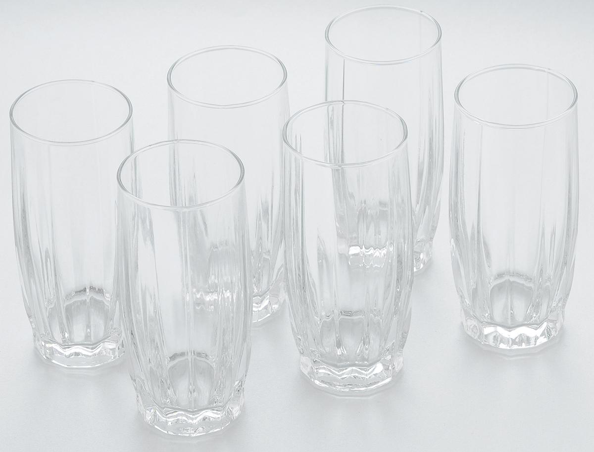 Набор стаканов для коктейлей Pasabahce Dance, 315 мл, 6 штVT-1520(SR)Набор Pasabahce, состоящий из шести стаканов, несомненно, придется вам по душе. Стаканы предназначены для подачи коктейлей, сока, воды и других напитков. Они изготовлены из прочного высококачественного прозрачного стекла и сочетают в себе элегантный дизайн и функциональность. Благодаря такому набору пить напитки будет еще вкуснее.Набор стаканов Pasabahce идеально подойдет для сервировки стола и станет отличным подарком к любому празднику.Высота стакана: 15 см.