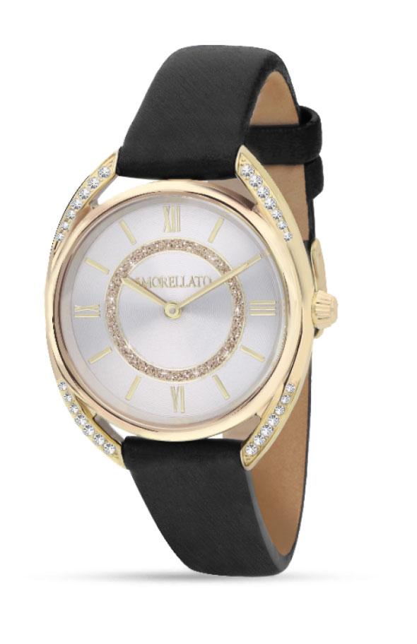 Наручные часы женские Morellato Tivoli, цвет: черный. R0151137503BM8434-58AEНаручные часы Morellato, корпус и задняя крышка из стали, стразы из стеклаб PVD покрытие