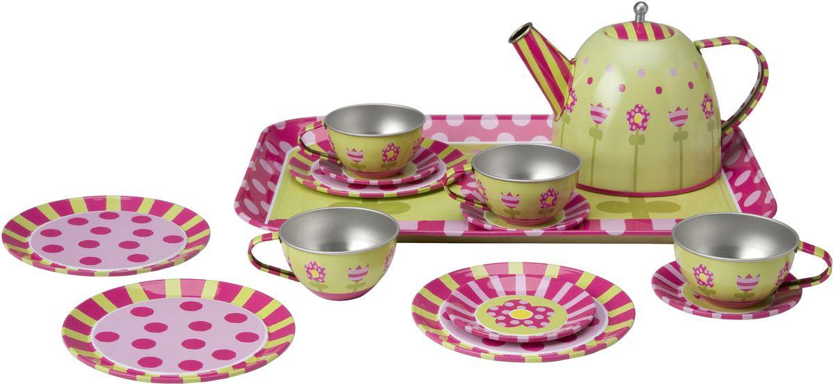 Alex Игровой набор посуды Чайный сервиз Весна 16 предметов alex чайный сервиз бабочки в саду
