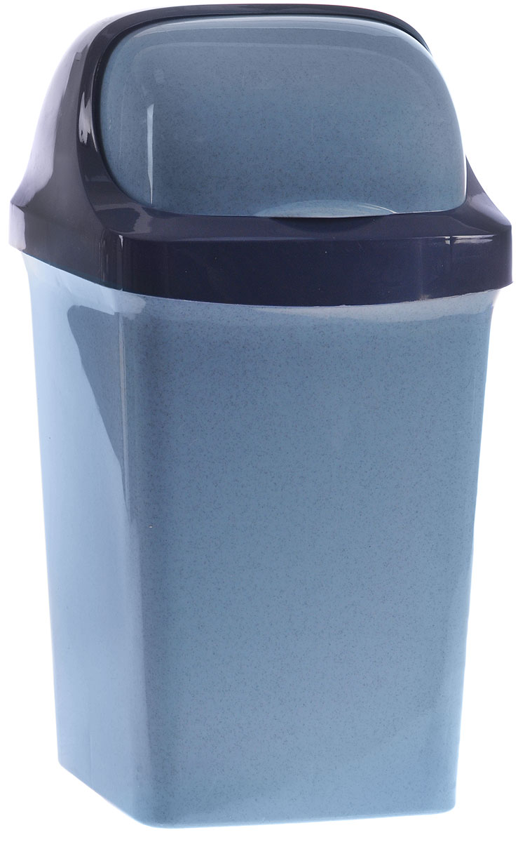 Контейнер для мусора М-пластика Ролл Топ, цвет: синий, 9 л68/5/1Контейнер для мусора М-пластика Ролл Топ изготовлен из прочного цветного пластика. Контейнер снабжен удобной съемной крышкой с подвижной перегородкой. В нем удобно хранить мусор.Благодаря лаконичному дизайну такой контейнер идеально впишется в интерьер дома, офиса, дачи.
