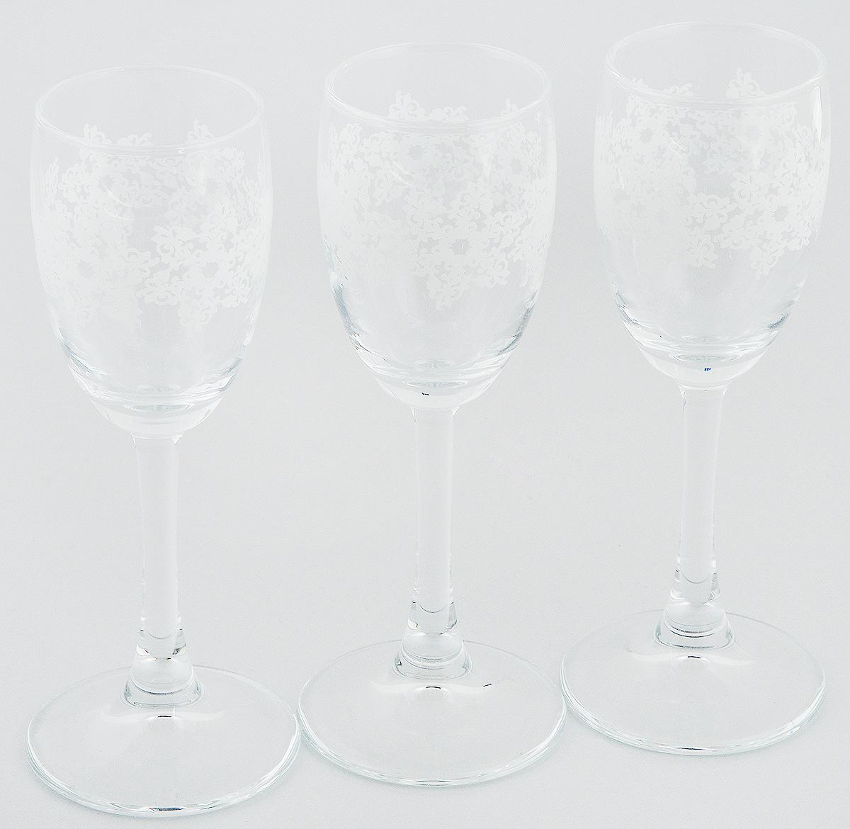 Набор рюмок Pasabahce Workshop Барокко, 60 мл, 3 штVT-1520(SR)Набор Pasabahce Workshop Барокко состоит из 3 рюмок, изготовленных из прочного натрий-кальций-силикатного стекла. Изделия, предназначенные для подачи ликера и других спиртных напитков, несомненно придутся вам по душе. Рюмки сочетают в себе элегантный дизайн и функциональность. Набор рюмок Pasabahce Workshop Барокко идеально подойдет для сервировки стола и станет отличным подарком к любому празднику.Диаметр рюмки по верхнему краю: 4 см. Высота рюмки: 14 см.
