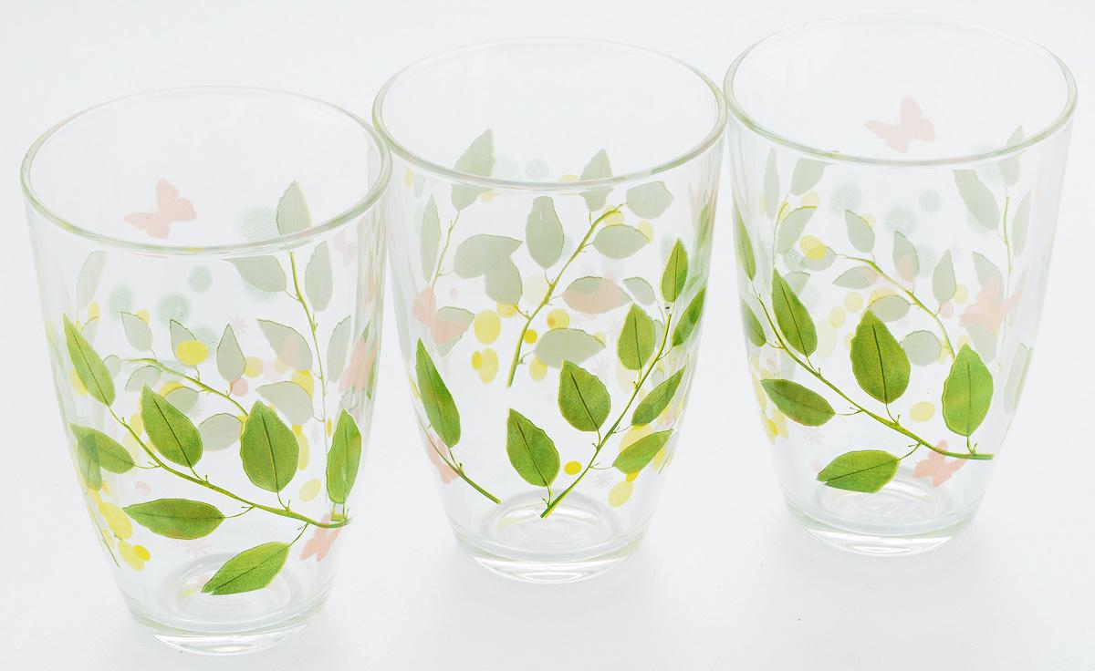 Набор стаканов Pasabahce Butterflies, 360 мл, 3 штVT-1520(SR)Набор Pasabahce Butterflies состоит из трех бокалов, выполненных из закаленного натрий-кальций-силикатного стекла. Изделия украшены ярким рисунком и прекрасно подойдут для подачи холодных напитков. Их оценят как любители классики, так и те, кто предпочитает современный дизайн.Набор идеально подойдет для сервировки стола и станет отличным подарком к любому празднику. Диаметр стакана (по верхнему краю): 8,5 см. Высота стакана: 12 см.