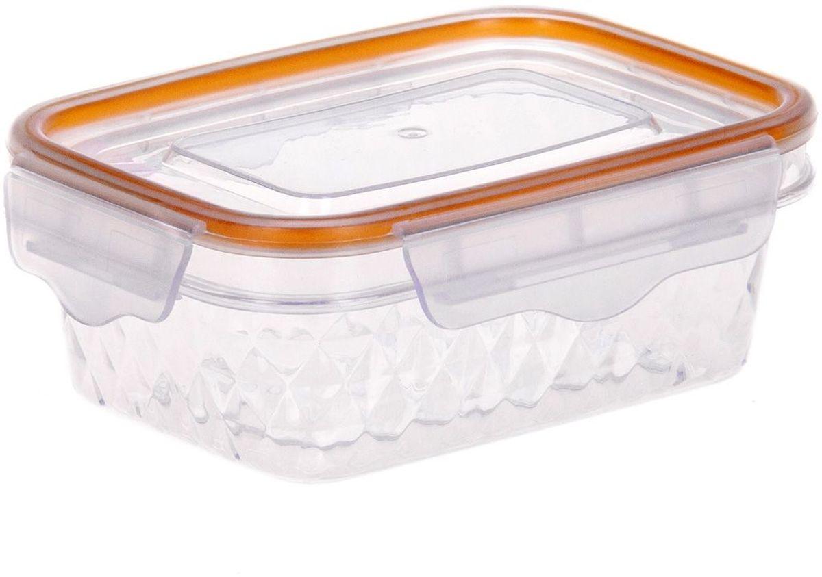 Контейнер пищевой MoulinVilla Diamond, 1,1 лVT-1520(SR)Прямоугольный контейнер MOULINvilla Diamond изготовлен из высококачественного полипропилена и предназначен для хранения любых пищевых продуктов. Благодаря особым технологиям изготовления, лотки в течение времени службы не меняют цвет и не пропитываются запахами. Крышка с силиконовой вставкой герметично защелкивается специальным механизмом. Контейнер MOULINvilla Diamond удобен для ежедневного использования в быту.Можно мыть в посудомоечной машине и использовать в микроволновой печи.
