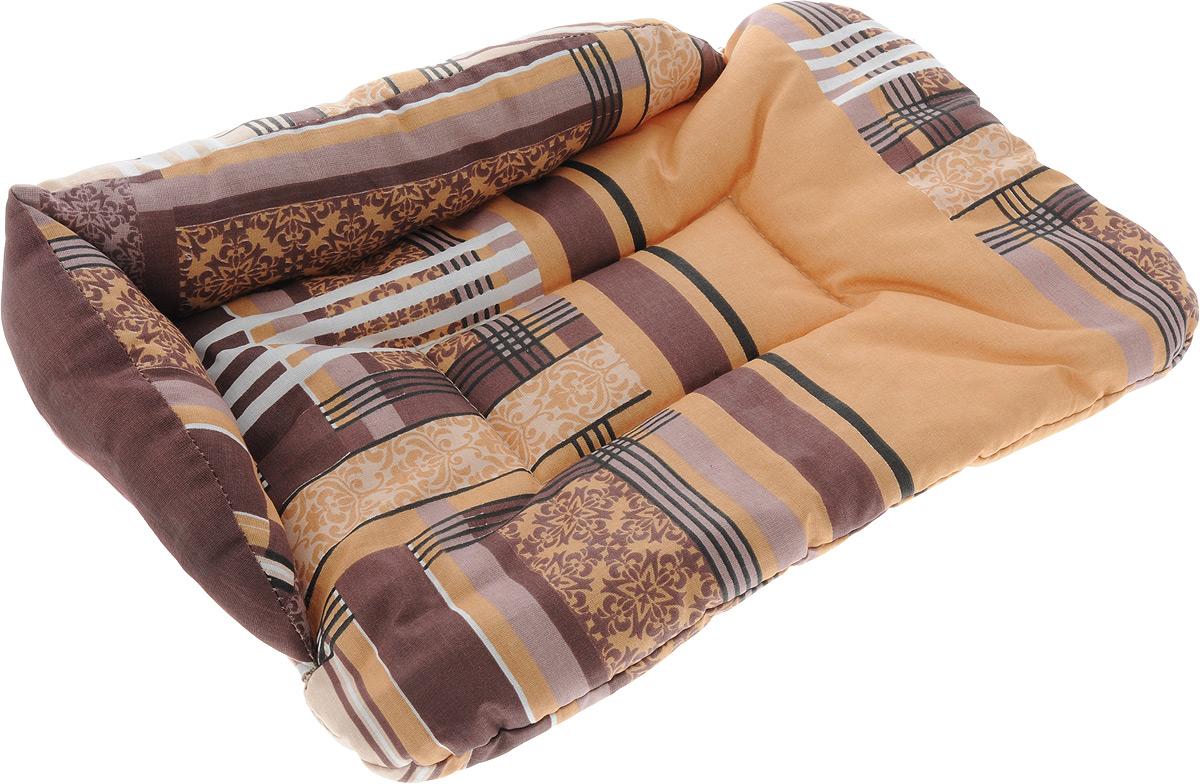 Лежак для животных Elite Valley Софа, цвет: коричневый, бежевый, 46 х 31 х 11 см. Л-5/10120710Лежак для животных Elite Valley Софа изготовлен из высококачественной бязи, наполнитель - холлофайбер. Он станет излюбленным местом вашего питомца, подарит ему спокойный и комфортный сон, а также убережет вашу мебель от многочисленной шерсти. На таком лежаке вашему любимцу будет мягко и тепло.