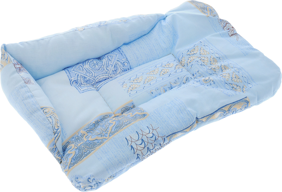 Лежак для животных Elite Valley Софа, цвет: голубой, 46 х 31 х 11 см. Л-5/1Л-5/1_голубойЛежак для животных Elite Valley Софа изготовлен из высококачественной бязи, наполнитель - холлофайбер. Он станет излюбленным местом вашего питомца, подарит ему спокойный и комфортный сон, а также убережет вашу мебель от многочисленной шерсти. На таком лежаке вашему любимцу будет мягко и тепло.