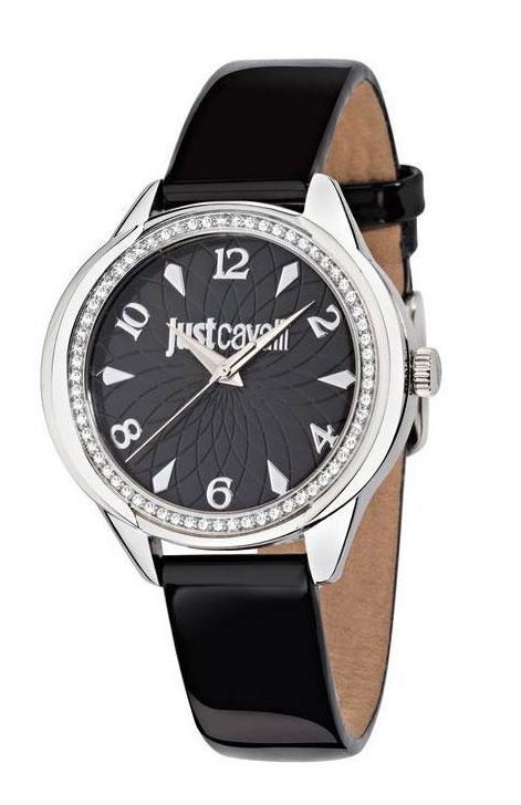 Часы наручные Just Cavalli R7251571505, стразы из стекла, Женские, цвет Черный, размер 38x35ммBM8434-58AEЧасы наручные Just Cavalli R7251571505, стразы из стекла 30м (3 АТМ)