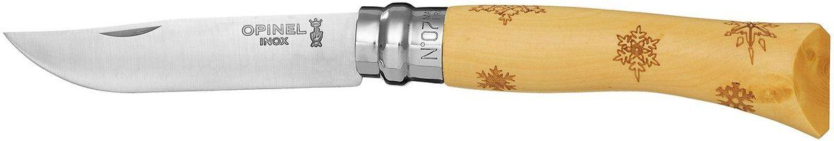 Нож Opinel Tradition. Nature №07, длина клинка 8 см, цвет: светло-бежевый. 00155367742Нож Opinel Nature №7, нержавеющая сталь, рукоять - самшит, рисунок - снежинки.Идеальный карманный нож для пикника, барбекю, походов, охоты и рыбалки.Характеристики ножа:Материал лезвия: сталь Sandvik 12C27Материал рукояти: самшит, нанесен рисунок - снежинкиТип ножевого замка: ViroblockПриспособление для открытия клинка: насечка на лезвииДлина лезвия, см: 8Длина ножа, см: 17,8Ширина лезвия, см: 1,6Длина в сложенном положении, см: 10Вес, гр: 42Вес ножа с упаковкой, гр: 47Viroblock - оригинальное запорное устройство, представляющее собой кольцо с прорезью, которое, будучи повернуто относительно оси ножа, упирается в пятку клинка и не доет ножу самопроизвольно складываться при работе или раскладываться в кармане. Конструкция эта защищена патентом и устанавливается на ножи Opinel с 1955 года, начиная с модели n° 6.