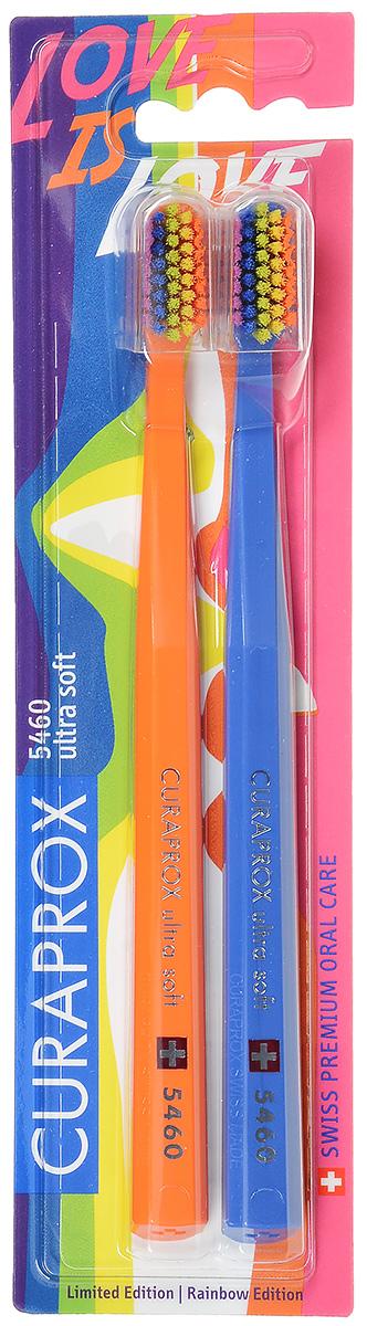 CS 5460 Duo Rainbow Edition Набор зубных щеток ultrasoft, d 0,10 мм (2 шт.)MP59.4DЩетки предназначены для ежедневного очищения зубов. Каждая щетка содержит 5460 мягких активных щетинок (диаметр 0,10мм) и обеспечивает качественное и нетравматичное удаление зубного налета.