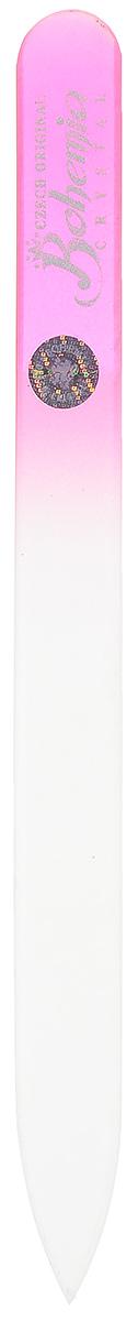 Bohemia Пилка для ногтей, стеклянная, цвет: розовый, 12 см. 233cz-1402AS-501/RПилочка Bohemia  не травмирует ногтевую пластину и подходит для ногтей любого вида твердости и натуральности. Она изготовлена из знаменитого чешского стекла, в производстве которого используются природные компоненты, богатые минералами. Отличается необыкновенно красивым дизайном: сочетанием зеленого цвета, который переходит плавно в белый. Работа с ней доставляет приятные ощущения, особенно для ногтей с повышенной чувствительностью.Замшевый чехол поможет сохранить ее на долгий срок службы.Возможна санитарная обработка.Товар сертифицирован.