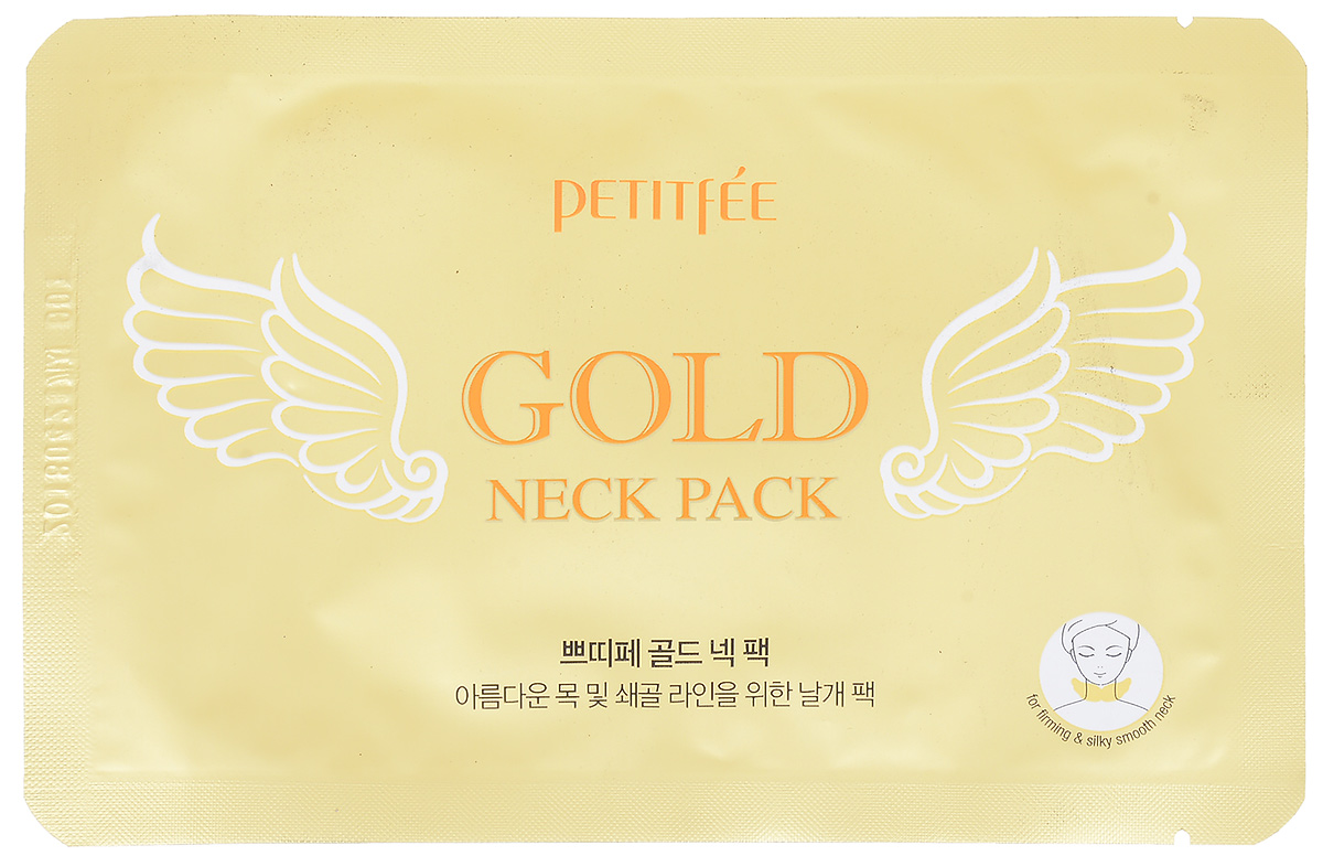 PetitfeeГидрогелевые маски для шеи Золото и EGFAC-1121RDГидрогелевые патчи выполнены в виде ангельских крыльев, что в точности повторяет очертания шеи и плотно прилегают и не смещаются. Входящий в состав аденозин возвращает коже молодость и красоту, а 24-каратное золото придает здоровый, сияющий и ровный тон коже.