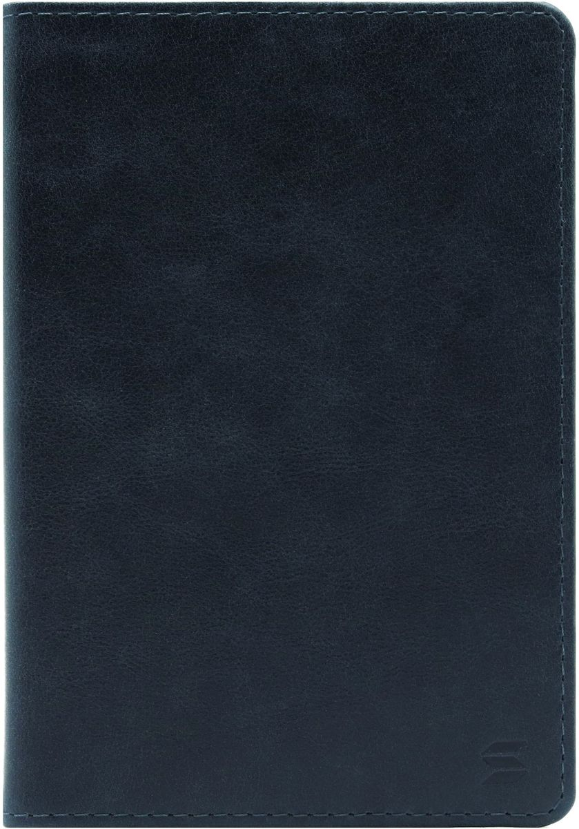 Обложка для паспорта Soltan, цвет: темно-синий. 010 11 17W16-11135_914Обложка для паспорта Soltan выполнена из натуральной кожи с эффектом старения и дополнена тиснением в виде логотипа бренда. Внутри у модели удобные широкие поля.
