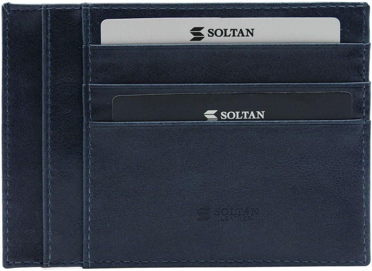 Футляр для автодокументов Soltan, цвет: синий. 061 11 17W16-12129_200Плоский футляр для автодокументов или кредиток Soltan из натуральной кожи с эффектом старения имеет 6 кармашков для карточек, 5 карманов для документов.Размер футляра: 13 х 9,4 х 0,5 см.