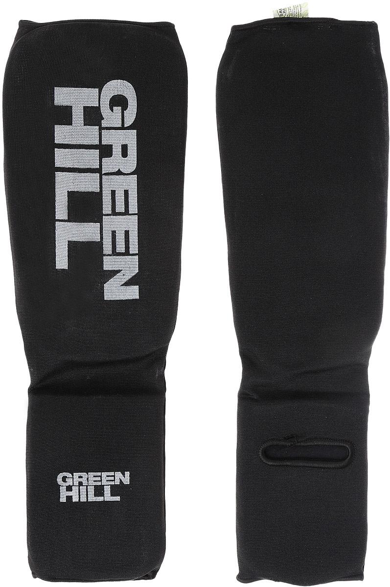 Защита голени и стопы Green Hill, цвет: черный, серый. Размер XL. SC-61313SC-61313XLЗащита голени и стопы Green Hill с наполнителем, выполненным из вспененного полимера, необходима при занятиях спортом для защиты пальцев и суставов от вывихов, ушибов и прочих повреждений. Накладки выполнены из высококачественного полиэстера и хлопка.Длина голени: 27 см.Ширина голени: 15 см.Длина стопы: 15 см.Ширина стопы: 11,5 см.
