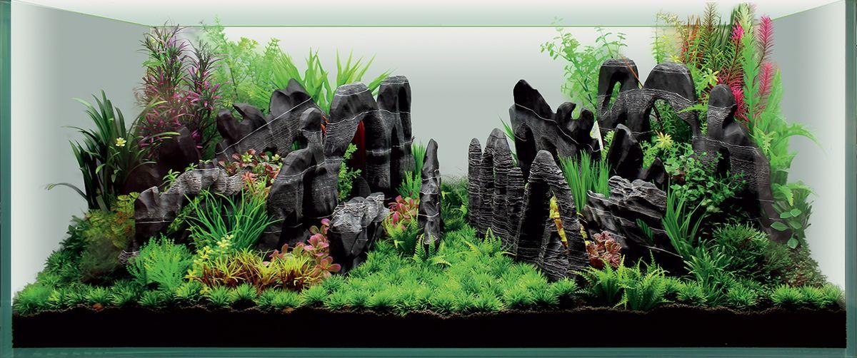 Набор декораций для аквариума ArtUniq Каньон, 120 x 50 x 50 см0120710Набор декорация для аквариума ArtUniq Каньон поможет вам создать из своего аквариума произведение искусства. Содержит около 14 видов различных растений. Практичный элемент впишется в любой подводный пейзаж, превращая обычный аквариум в притягивающий внимание предмет интерьера. Каждый, кто увидит его, удивится резвящимся в нем рыбкам, которым больше никогда не будет скучно.Все компоненты этого украшения сделаны из химически нейтрального материала. Он не меняет состав и основные параметры воды, постоянно оставаясь безопасным для обитателей аквариума.Благодаря декорациям ArtUniq вы сможете смоделировать потрясающий пейзаж на дне вашего аквариума или террариума.Общий размер декорации (в собранном виде): 120 х 50 х 50 см.Высота растений: 3-39 см.