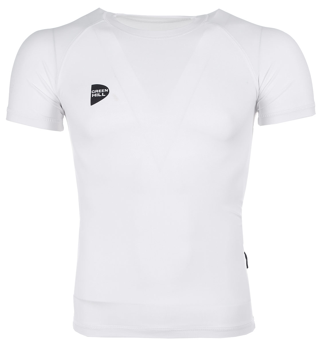 Защитная футболка Green Hill, цвет: белый. Размер XXS. RGS-3558RGS-3558Защитная футболка с логотипом дзюдо. Материал: полиэстер/лайкра. Размеры: Длина 60 см ширина 35 см