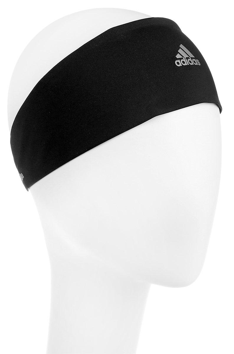 Повязка на голову для бега женская adidas Climalite Running HB, цвет: черный. Размер OSFL (60-62)S99780Повязка на голову Climalite Running - отводящая влагу повязка со светоотражающими деталями.Сконцентрируйся на беге в этой повязке на голову, которая отводит излишки влаги, не позволяя каплям падать на глаза. Эластичная ткань обеспечивает удобную прилегающую посадку, а светоотражающие детали — безопасность в темное время суток.Ткань с технологией climalite быстро и эффективно отводит влагу с поверхности кожи, поддерживая комфортный микроклимат.Эластичный ремешок сзади для оптимальной посадки.Светоотражающие детали.100% плотный трикотаж (полиэстер); 84% полиэстер / 16% эластан (тонкий трикотаж)/