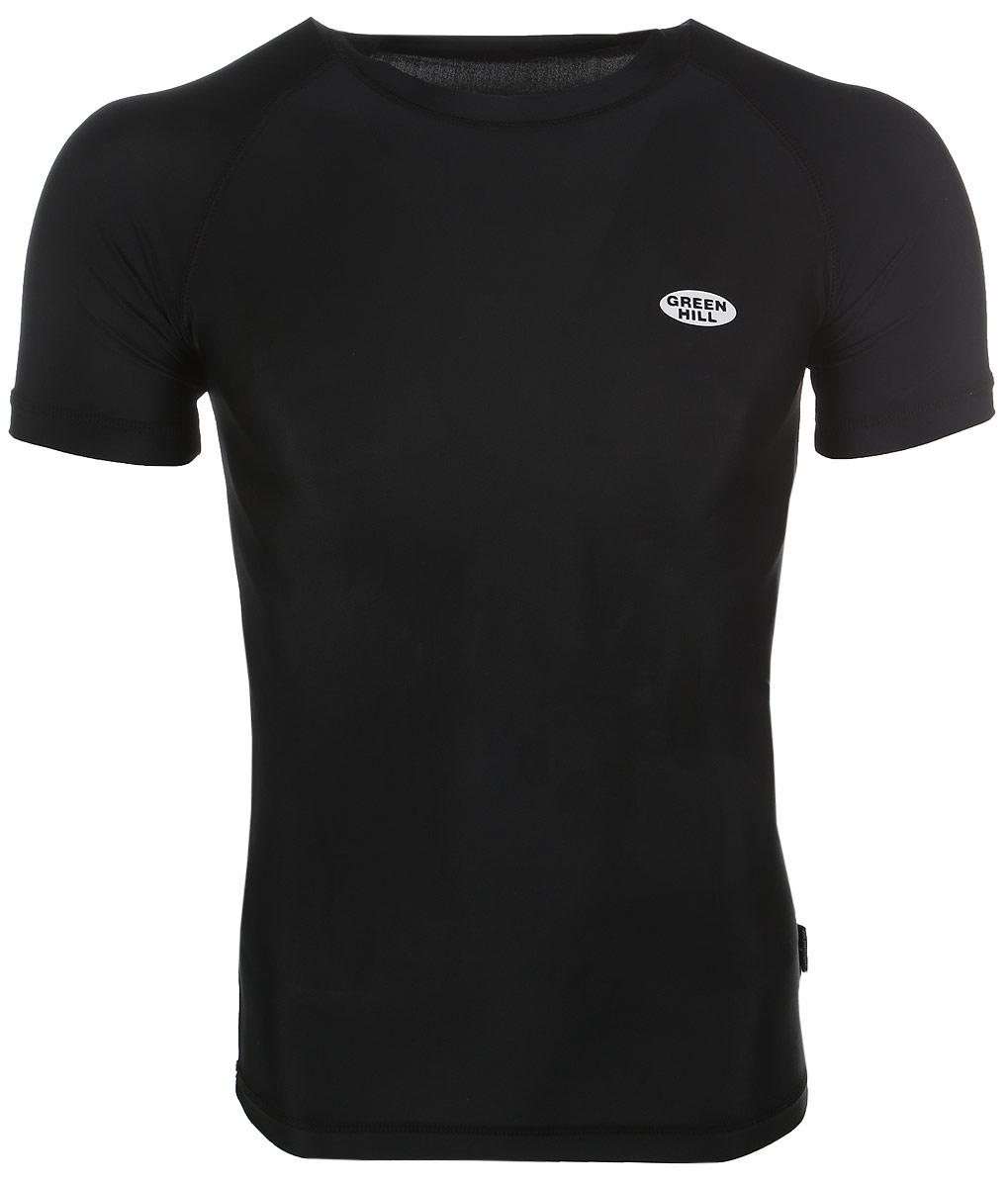 Защитная футболка Green Hill, цвет: черный. Размер XXL. RGS-3558RGS-3558Защитная футболка с логотипом дзюдо. Материал: полиэстер/лайкра. Размеры: Длина 74 см ширина 47 см