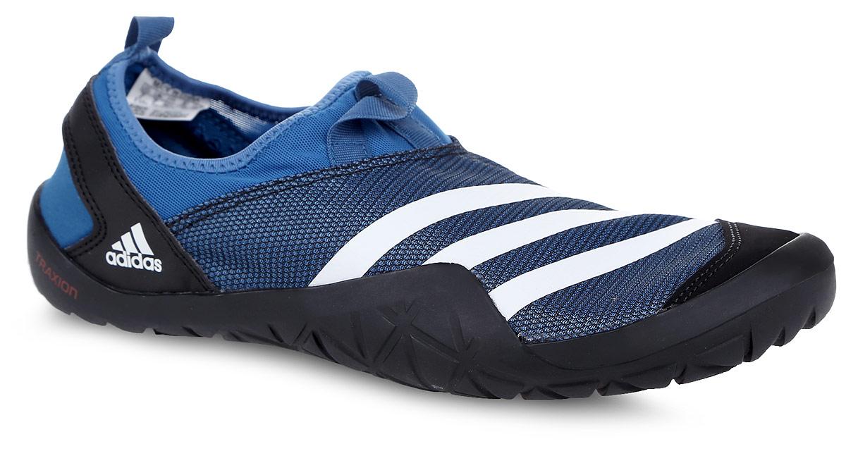 Обувь для кораллов adidas Climacool Jawpaw Sl, цвет: синий, черный, белый. BB5445. Размер 7 (39)332515-2800Обувь для кораллов от Adidas Performance Climacool Jawpaw Sl предназначена для пляжного отдыха, плавания в открытой воде, а также для любых видов водного спорта. Модель выполнена из плотного текстиля с добавлением искусственного материала. Детали: уплотненный мыс и пятка, подкладка из искусственного материала, плоская резиновая подошва. Такая обувь не только защитит ступни ног при хождении по каменистому дну, а также от горячего песка при хождении по пляжу, но и обеспечит комфорт.