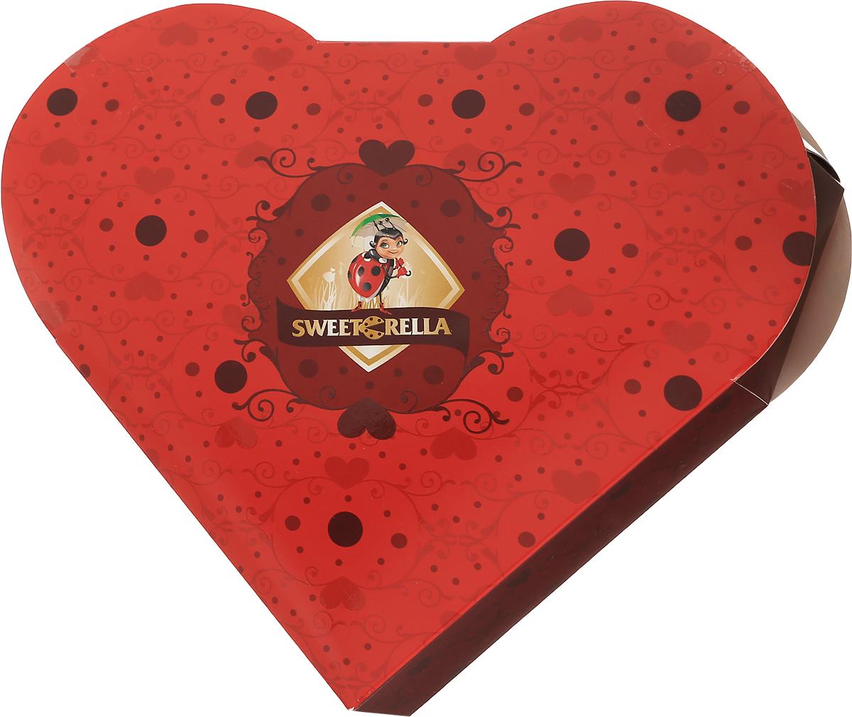 Sweeterella набор шоколадных конфет пламенное сердце, 170 г0120710Пламенно-красное сердце в стилистике Sweeterella подойдет как в качестве подарка к 14 февраля, так и для любимой к 8 марта - подарков никогда не бывает много!Набор шоколадных конфет в форме сердца: - шоколадные конфеты из молочного шоколада с начинкой Клубника со сливками; - шоколадные конфеты из темного шоколада с начинкой Цитрусовый микс.Уважаемые клиенты! Обращаем ваше внимание, что полный перечень состава продукта представлен на дополнительном изображении.
