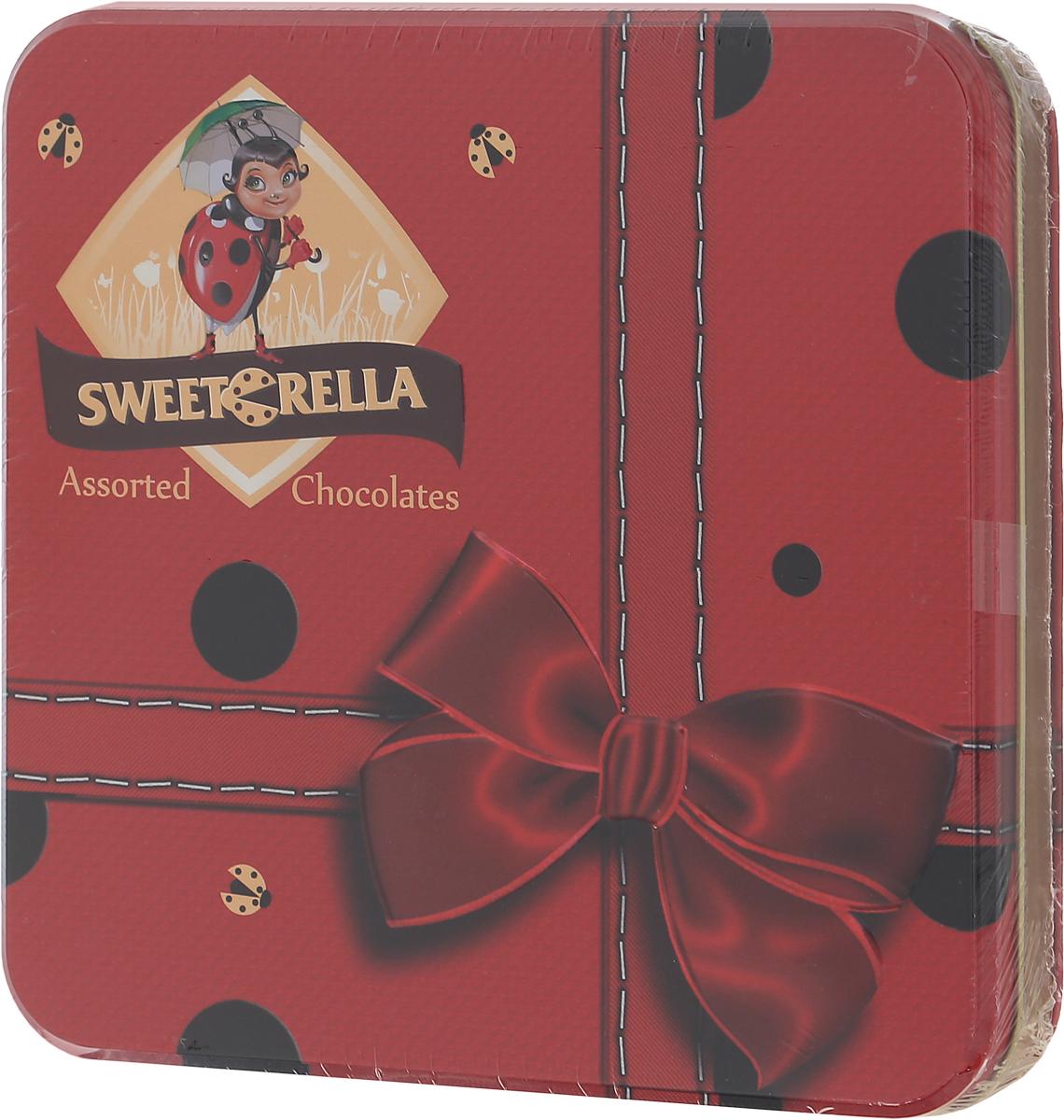 Sweeterella набор шоколадных конфет эксклюзив шоколадного ассорти, 193 г0120710Подарочный набор шоколадных конфет разных форм и вкусов в красивой коробке с бантом – лучшее лекарства от плохого настроения! Выбирайте любимую начинку и наслаждайтесь! Начинки: - фисташковая; - ореховая; - с яичным ликером; - Изабелла.Уважаемые клиенты! Обращаем ваше внимание, что полный перечень состава продукта представлен на дополнительном изображении.