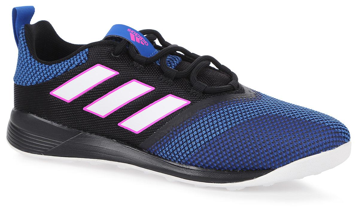 Кроссовки для футзала мужские adidas Ace tango 17.2 Tr, цвет: черный. BB4433. Размер 10 (43)1719231-554Кроссовки Adidas Ace Tango 17.2 Tr выполнены из высококачественных материалов. Внутренняя отделка - из мягкого текстиля. Цепкая резиновая подошва дополнена дышащим верхом из сетки для максимальной вентиляции. Легкая промежуточная подошва для оптимальной амортизации. Такие кроссовки прекрасно подходят для безупречного сцепления и взрывной скорости на гладких полированных поверхностях.