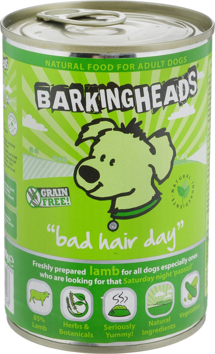 Консервы Barking Heads Роскошная шевелюра для собак, с ягненком, 400 г0120710Barking Heads Роскошная шевелюра - влажный мясной корм для взрослых собак всех пород. Консервы содержат свежеприготовленное мясо ягненка. Полнорационный продукт, содержащий все необходимые витамины и минералы, сбалансированный для поддержания оптимального здоровья вашего питомца! Товар сертифицирован.