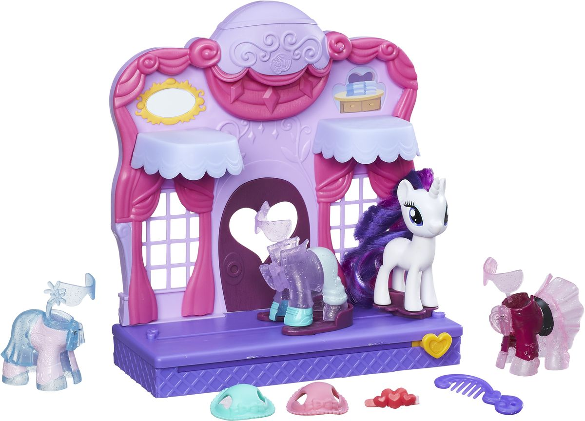 My Little Pony Игровой набор Rarity Fashion Runway, Hasbro