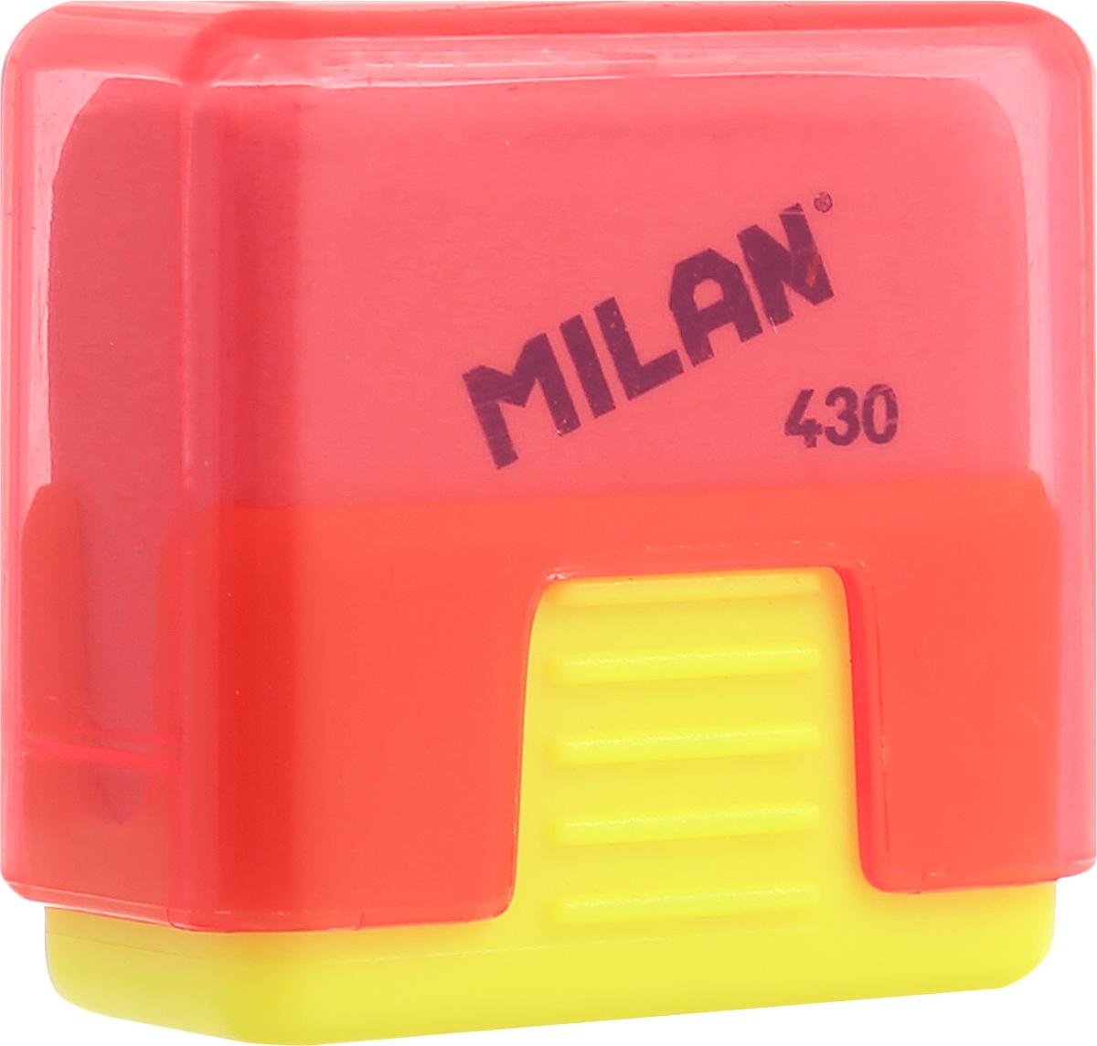 Milan Ластик School 430 цвет желтый красный20156212Ластик Milan School 430 - это ластик с пластиковым держателем в эргономичном компактном корпусе. Заменяемый ластик.