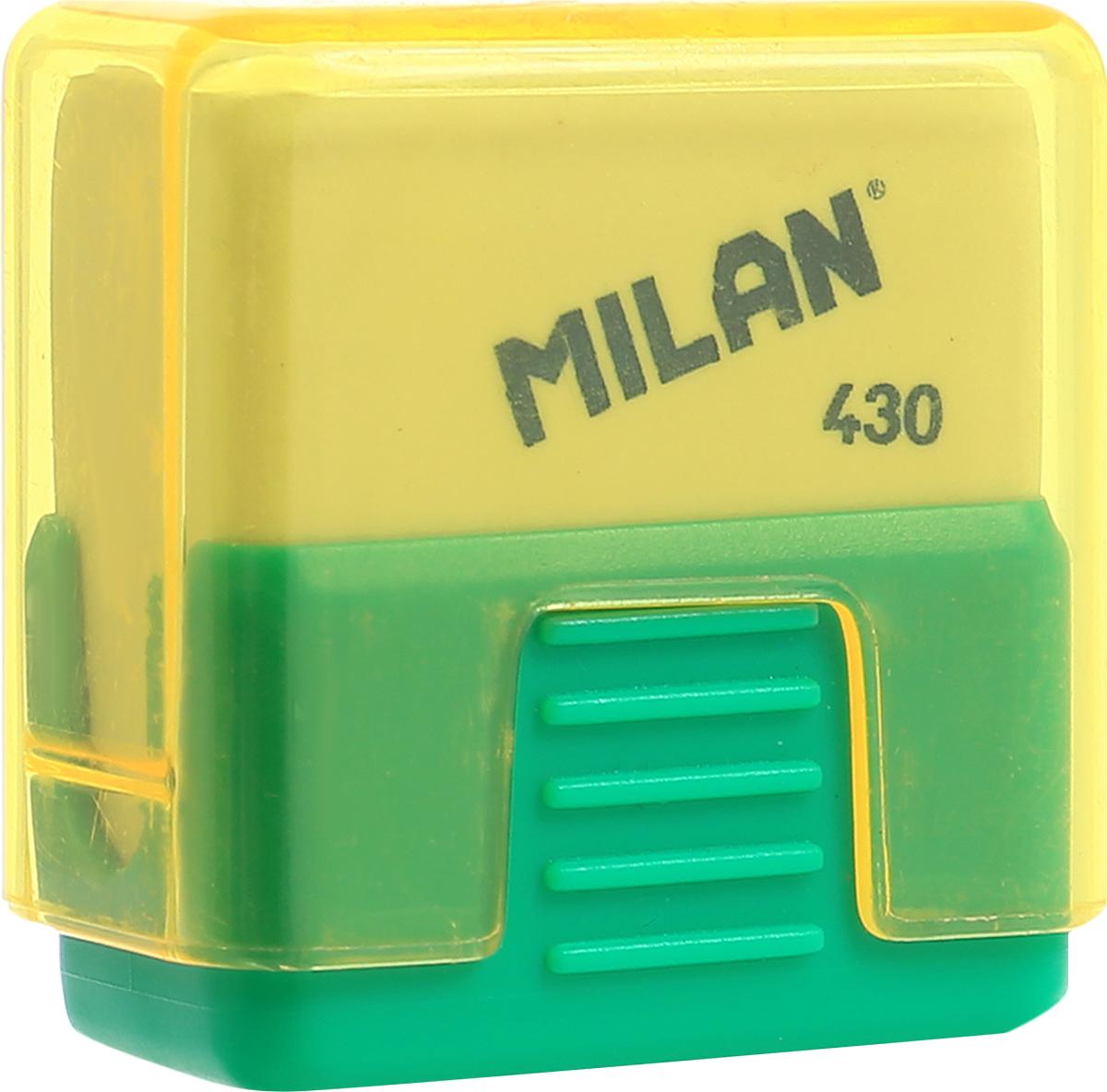 Milan Ластик School 430 цвет зеленый желтыйPR_00415Ластик Milan School 430 - это ластик с пластиковым держателем в эргономичном компактном корпусе. Заменяемый ластик.