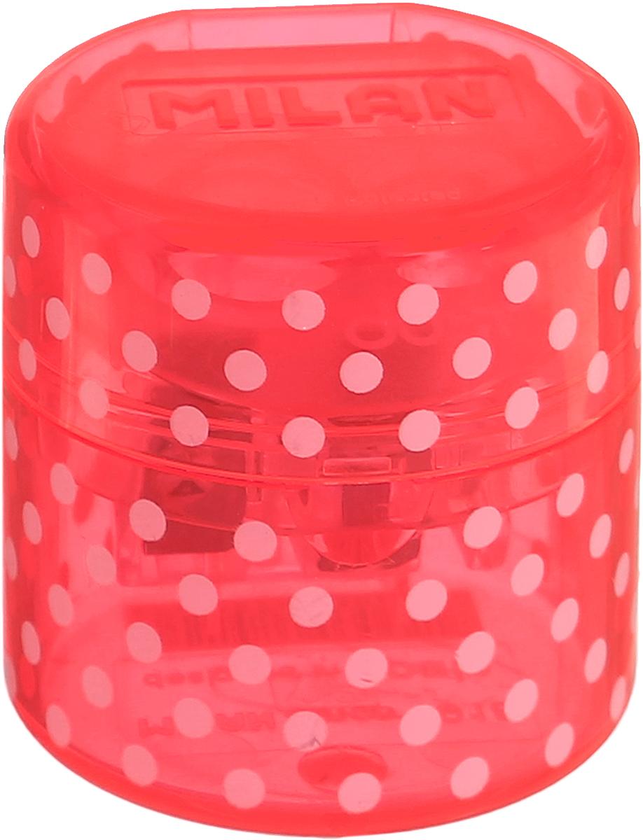 Milan Точилка Duet с контейнером цвет розовый20155212_розовыйУдобная точилка с контейнером Milan Duet оснащена безопасной системой заточки.Эта система предотвращает отделение лезвия от точилки. Идеально подходит для использования в школах. Стальное лезвие острое и устойчиво к повреждению. Идеально подходит для заточки графитовых и цветных карандашей