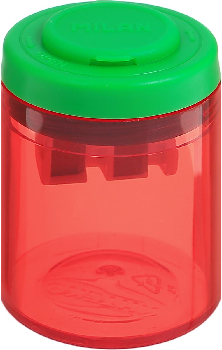 Milan Точилка Collection с контейнером цвет красный зеленый72523WDДизайнерская точилка Milan Collection оснащена безопасной системой заточки.Эта система предотвращает отделение лезвия от точилки. Идеально подходит для использования в школах. Стальное лезвие острое и устойчиво к повреждению. Идеально подходит для заточки графитовых и цветных карандашей