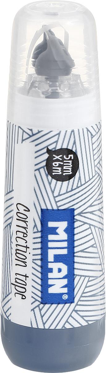 Milan Корректирующая лента цвет серыйFS-54100Лента Milan корректирует быстро, чисто и точно.Подходит для всех типов бумаг. Размер 5 мм на 6 м.