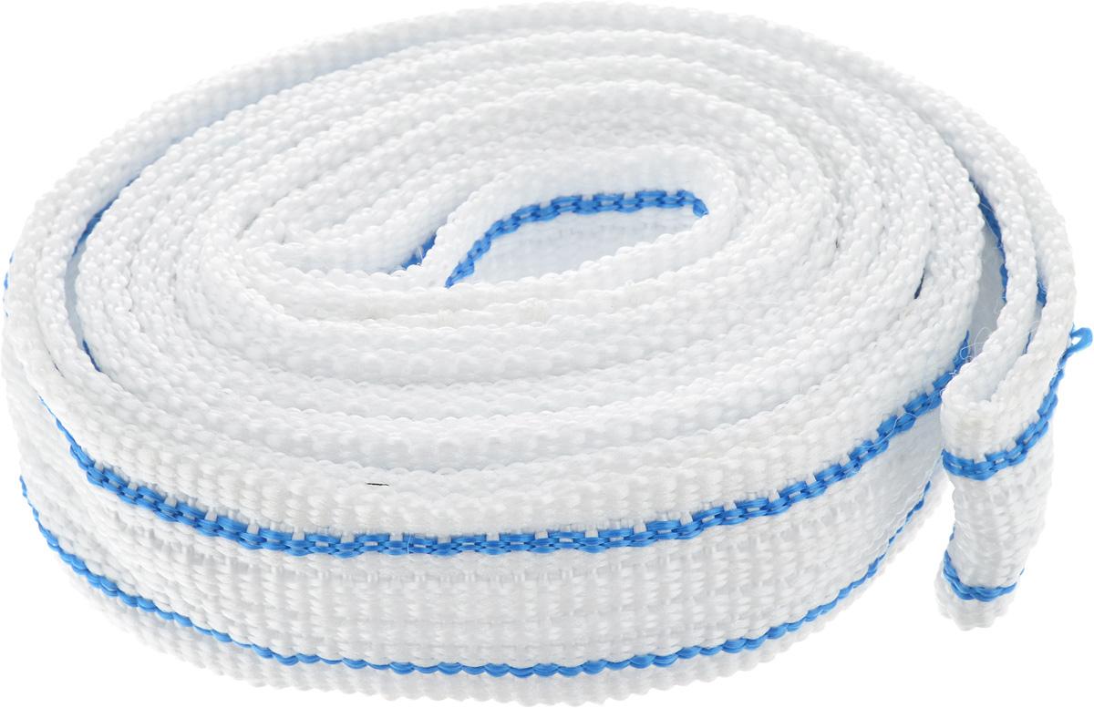 Трос буксировочный Sapfire, цвет: белый, голубой, 7 т, 6 мGL-251Ленточный трос Sapfire предназначен для буксировки автомобилей. Выполнен из прочного материала, что обеспечивает долгий срок эксплуатации.Длина троса: 6 м.Ширина троса: 5 см.Максимальная нагрузка: 7 т.