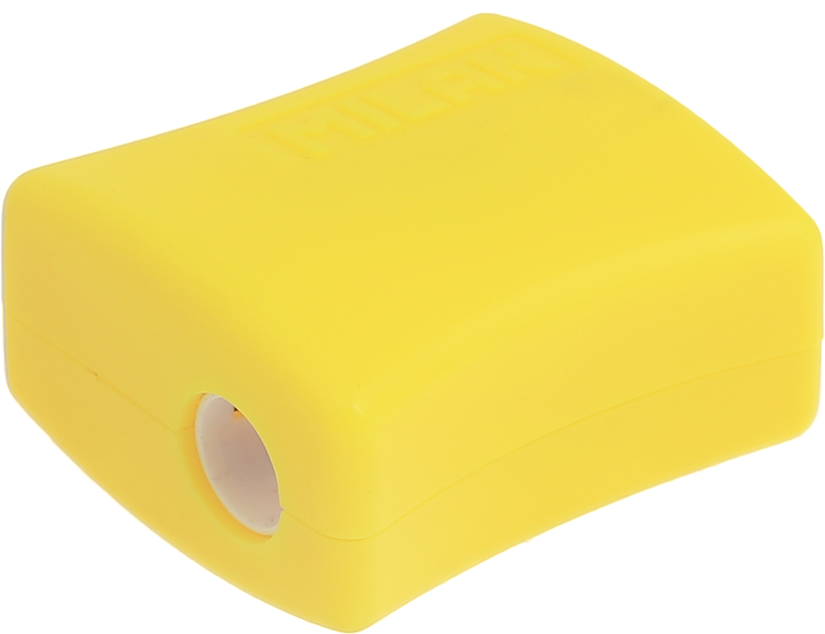 Milan Точилка Double с контейнером цвет желтый72523WDУдобная точилка Milan Double с контейнером оснащена безопасной системой заточки.Эта система предотвращает отделение лезвия от точилки. Идеально подходит для использования в школах. Стальное лезвие острое и устойчиво к повреждению. Идеально подходит для заточки графитовых и цветных карандашей