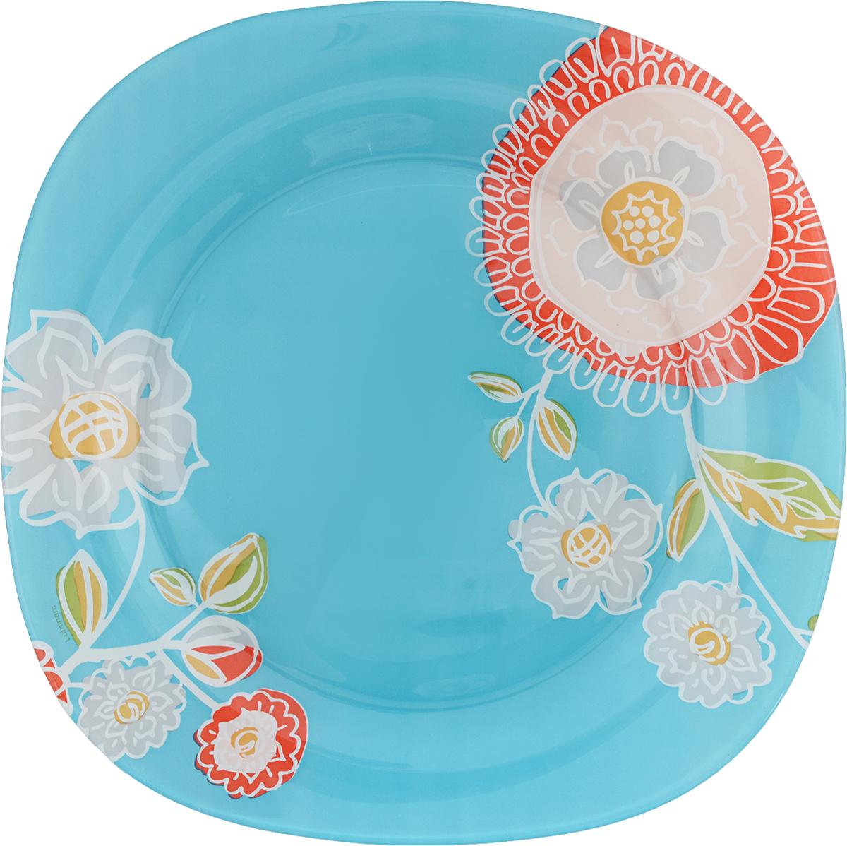 Тарелка обеденная Luminarc Silene Glass, 25 х 25 см115510Обеденная тарелка Luminarc Silene Glass изготовлена из высококачественного стекла. Изделие сочетает в себе изысканный дизайн с максимальной функциональностью. Тарелка прекрасно впишется в интерьер вашей кухни и станет достойным дополнением к кухонному инвентарю. Такое изделие не только украсит ваш кухонный стол и подчеркнет прекрасный вкус хозяйки, но истанет отличным подарком.Размер тарелки: 25 х 25 см.Высота тарелки: 1,5 см.