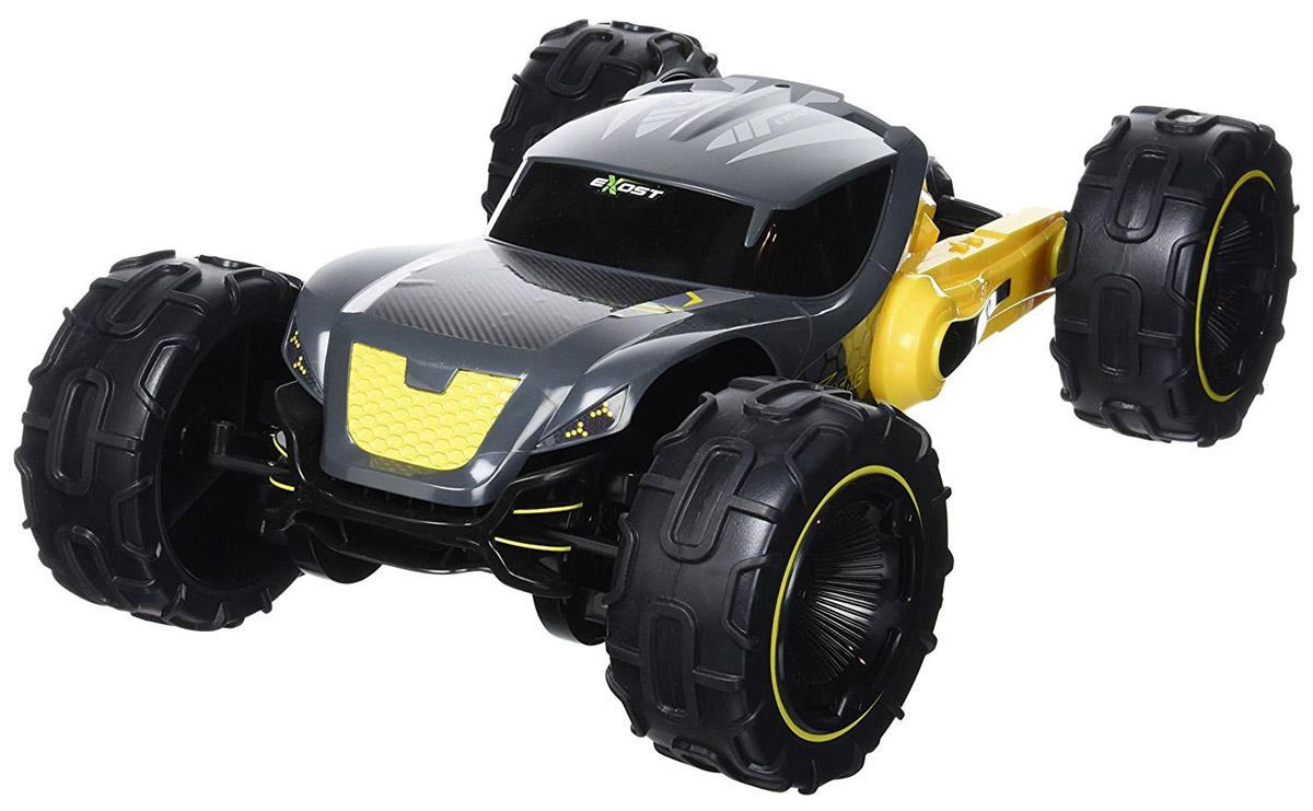 """Машина на радиоуправлении Silverlit """"Экстрим Фолд"""" создана для тех, кто одинаково любит внедорожники и гоночные автомобили. Она умеет трансформироваться в джип с высоким клиренсом и в скоростной багги с вытянутым корпусом обтекаемой формы. Трансформация происходит автоматически по нажатию кнопки на пульте управления. В форме джипа машинка длиной будет с ладонь взрослого, в форме гоночной модели - в два раза длиннее.Повышенная проходимость радиоуправляемого автомобиля Экстрим Фолд достигается за счет четкого рельефа протекторов и полного привода 4х4. Сама машинка работает от аккумулятора, пульт управления работает от четырех батареек типа АА. Батарейки приобретаются отдельно."""