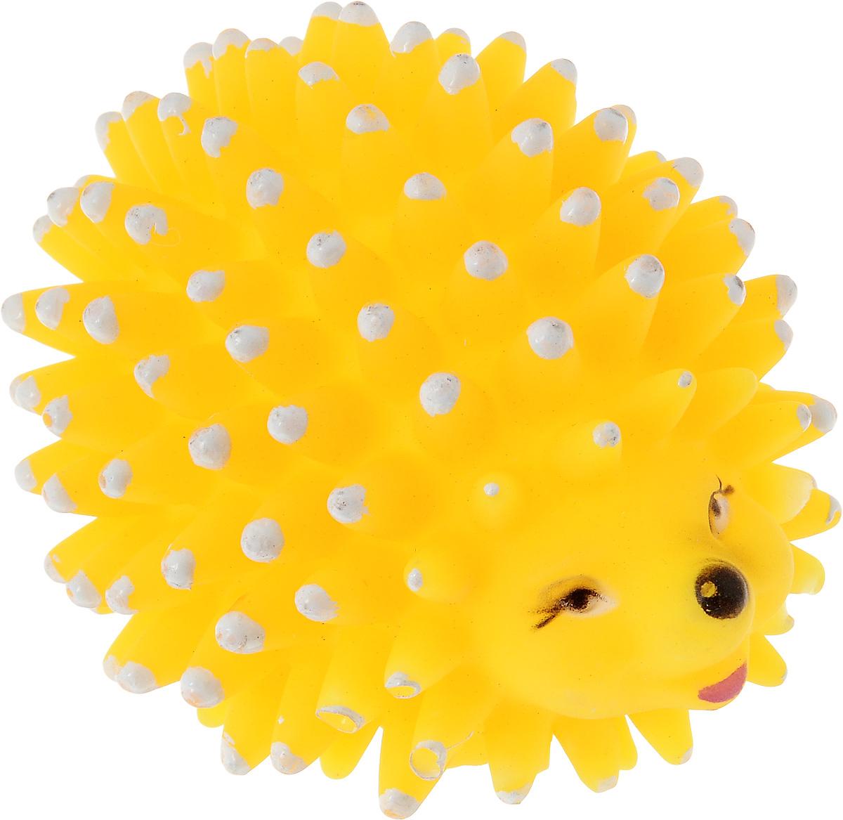 Игрушка для собак Zoobaloo Еж, с пищалкой, длина 8 см игрушка для собак zoobaloo гантель с пищалкой длина 13 см