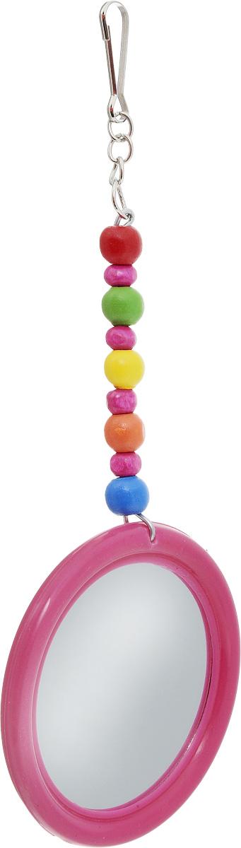 Игрушка для птиц Zoobaloo Зеркало. Африка, высота 17 см0120710Игрушка для птиц Zoobaloo Зеркало. Африка - отличный способ развлечения для экзотических и маленьких птиц. Игрушка представляет собой круглое зеркало в пластиковой раме. Изделие подвешивается на клетку за крючок. Такая игрушка не даст заскучать вашему питомцу. Диаметр зеркала: 6,5 см. Высота игрушки: 17 см.УВАЖАЕМЫЕ КЛИЕНТЫ! Обращаем ваше внимание на возможные изменения в цветовом дизайне, связанные с ассортиментом продукции. Поставка осуществляется в зависимости от наличия на складе.