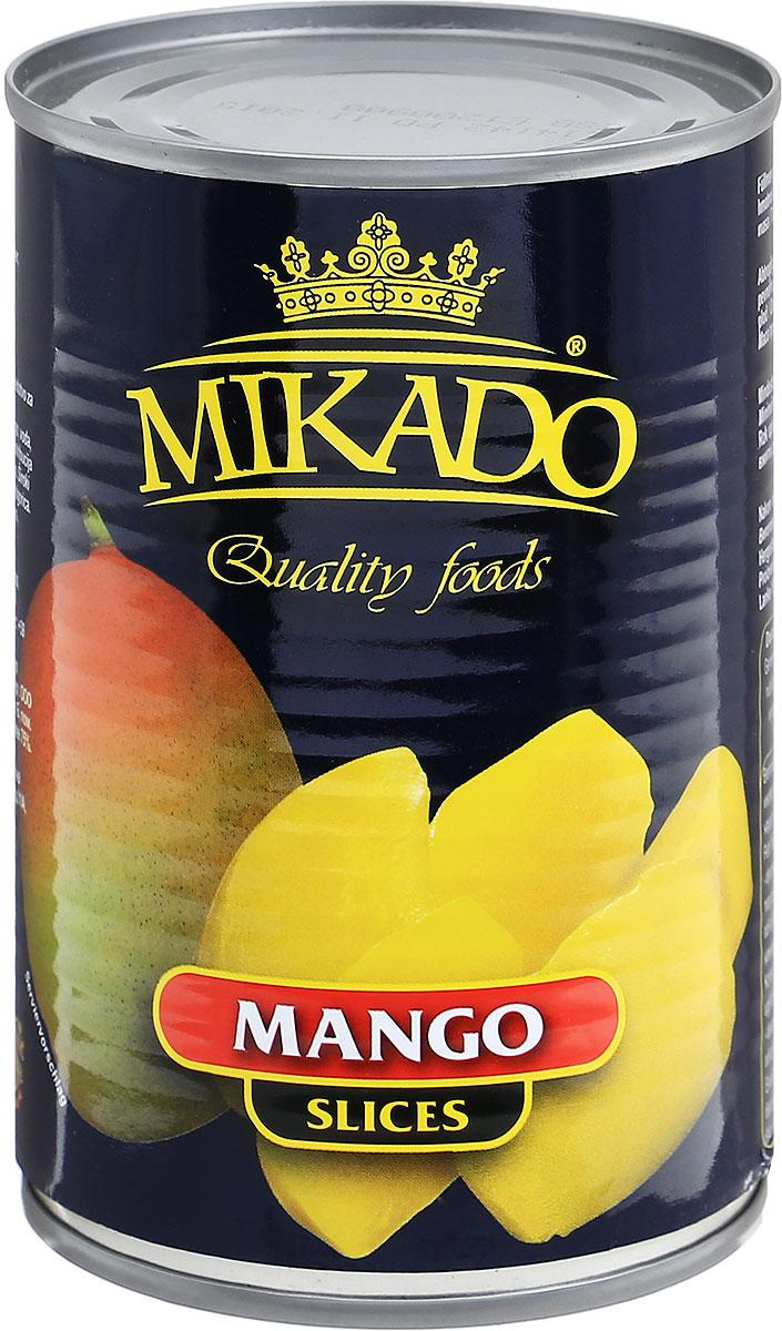 Mikado манго дольками в сиропе, 425 мл0120710Ломтики манго в сиропе от Mikado безусловно станут отличным лакомством для вас и ваших детей!Уважаемые клиенты! Обращаем ваше внимание, что полный перечень состава продукта представлен на дополнительном изображении.Упаковка может иметь несколько видов дизайна. Поставка осуществляется в зависимости от наличия на складе.
