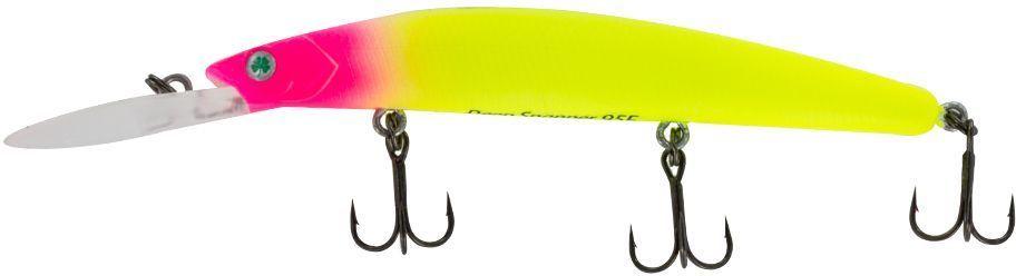 Воблер Yoshi Onyx Deep Snapper-95 F-DR, цвет: 333 (желтый, розовый)4271825Deep Snapper 95F от Yoshi Onyx способен буквально за два-три рывкадостигнуть глубины два с половиной метра, что позволит эффективно обловить глубокие, но короткие прибрежные канавки. Отзывчив на анимацию и способен соблазнить практически любую хищную рыбу. Deep Snapper 95Fэто плавающий воблер, размером 95 мм и весом 9,1 гр. с максимальным заглублением до 2-4 м.