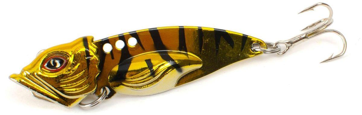 Блесна Yoshi Onyx Yalu Vib Up, цвет: золотой, черный, 10 г95780Блесна Yoshi Onyx Yalu Vib Up - это приманка с характерной смещенной вперед развесовкой. Она отлично выдерживает рваный темп рывковых проводок, имитируя беззаботно копошащуюся у дна рыбку. Тщательно рассчитанный баланс приманки позволяет эффективно облавливать участки водоемы с ярко выраженным рельефом.