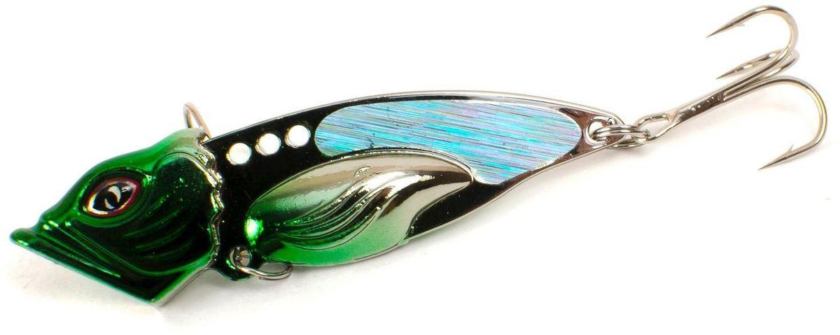 Блесна Yoshi Onyx Yalu Vib Up, 21 г, цвет: 4 (зеленый)95437-530Блесна Yoshi Onyx Yalu Vib up – приманка, с характерной, смещённой вперёд развесовкой, отлично выдерживает рваный темп рывковых проводок, имитируя беззаботно копошащуюся у дна рыбку. Тщательно рассчитанный баланс приманки позволяет эффективно облавливать участки водоёмы с ярко выраженным рельефом.