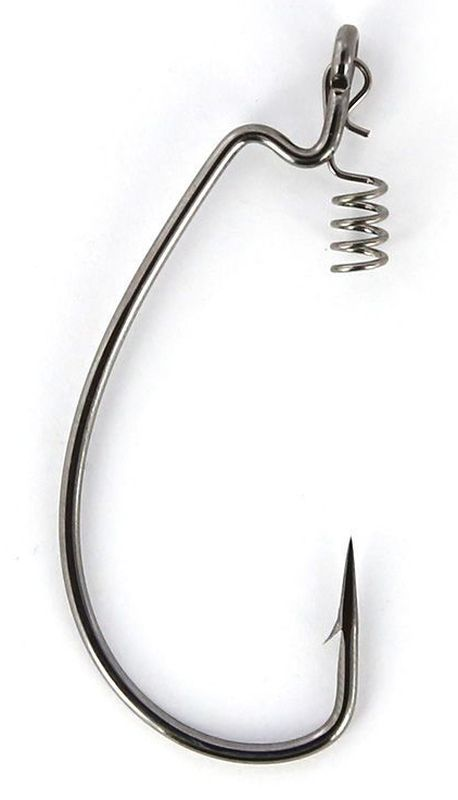 Крючки офсетные Yoshi Onyx Magna Big Eye, HD 1, с пружинкой, 5 шт96272Офсетные кованные крючки Yoshi Onyx Magna Big Eye с химической заточкой выполнены из высококачественной стали. Но острота и прочность это не главные их достоинства. Во-первых, крючки спроектированы с увеличенным ушком, благодаря чему, теперь не придется тщательно выбирать для них разборный груз. Даже самая толстая проволока любой чебурашки с легкостью пройдет в ушко. Это обеспечит подвижность и легкость шарнирного монтажа. А во-вторых, производитель положил в упаковку еще и волшебный бонус - пружинки для монтажа силиконовых приманок. Пружинки нужны для того, чтобы при поклевках приманка, как это частенько бывает не измочаливалась и не рвалась. Наши эксперты заметили, что при монтаже силикона на пружину, приманка живет в несколько раз дольше, чем при ее классическом монтаже на офсетный крючок.