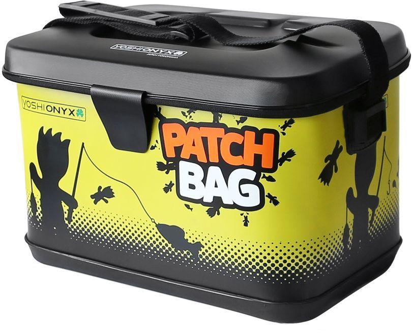 Сумка для снастей Yoshi Onyx Patch Bag, цвет: черный, желтый4271825Яркая, водонепроницаемая сумка для снастей. Изготовлена из качественного материала EVA, который легко поддается чистке и мойке, с очень хорошим качеством прокраски и оригинальным узнаваемым рисунком. Сумка закрывается на молнию, но если вам нужно иметь возможность быстро сменить приманку, то можно воспользоваться фиксацией крышки липучкой с помощью одного касания. Для удобной переноски сумка оснащена наплечным ремнем, который можно отрегулировать по длине.. В сумку можно поместить большие фирменные коробки Yoshi Onyx для снастей. Сумка Yoshi Onyx Patch Bag - невероятно яркий и красивый элемент рыболовного современного снаряжения, созданный приносить радость от рыбалки.