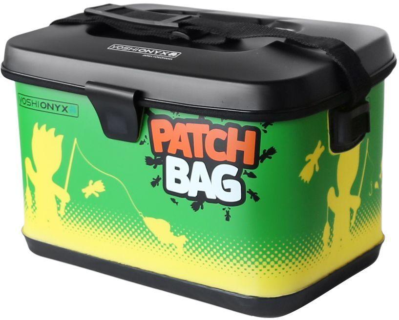 Сумка для снастей Yoshi Onyx Patch Bag, цвет: желтый, зеленый4271825Яркая, водонепроницаемая сумка для снастей. Изготовлена из качественного материала EVA, который легко поддается чистке и мойке, с очень хорошим качеством прокраски и оригинальным узнаваемым рисунком. Сумка закрывается на молнию, но если вам нужно иметь возможность быстро сменить приманку, то можно воспользоваться фиксацией крышки липучкой с помощью одного касания. Для удобной переноски сумка оснащена наплечным ремнем, который можно отрегулировать по длине.. В сумку можно поместить большие фирменные коробки Yoshi Onyx для снастей. Сумка Yoshi Onyx Patch Bag - невероятно яркий и красивый элемент рыболовного современного снаряжения, созданный приносить радость от рыбалки.