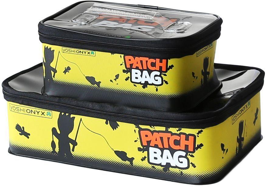 Набор коробок для снастей Yoshi Onyx Patch Bag, цвет: черный, желтый, 2 шт96809Yoshi Onyx Patch Bag - это комплект ярких, водонепроницаемая сумок, выполненных из ткани EVA для снастей. В комплекте 2 коробки с оригинальным узнаваемым рисунком. Коробки закрывается на молнию. Каждая коробка снабжена ручкой на крышке для переноски. Крышки коробок выполнены из прозрачного пластика, для удобства поиска нужных приманок и снастей. Рыболовные аксессуары Yoshi Onyx - невероятно яркий и красивый элемент рыболовного современного снаряжения, созданный приносить радость от рыбалки.Размер большой коробки: 35 х 23 х 10 см (объем 8 литров). Размер малой коробки: 25 х 16 х 10 см (объем 4 литра).