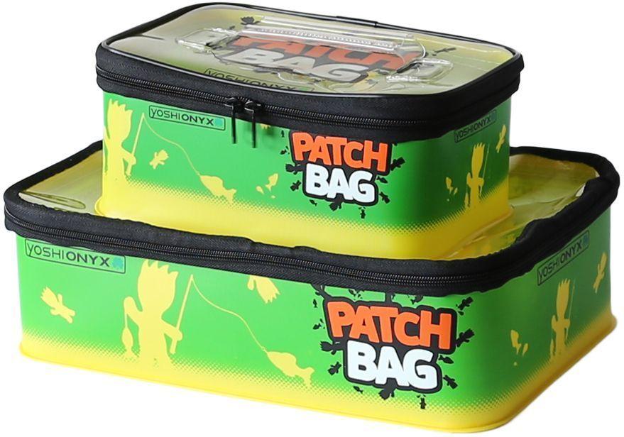 Набор коробок для снастей Yoshi Onyx Patch Bag, цвет: желтый, зеленый, 2 шт96810Комплект ярких, водонепроницаемая сумок из ткани EVA для снастей. В комплекте 2 коробки с оригинальным узнаваемым рисунком. Коробки закрывается на молнию. Размеры коробок Yoshi Onyx Patch Bag - 35*23*10 см (объем 8 литров) и 25*16*10 см (объем 4 литра). Каждая коробка снабжена ручкой на крышке для переноски. Крышки коробок выполнены из прозрачного пластика, для удобства поиска нужных приманок и снастей. Рыболовные аксессуары Yoshi Onyx - невероятно яркий и красивый элемент рыболовного современного снаряжения, созданный приносить радость от рыбалки. Коробки для снастей Yoshi Onyx Patch Bag идеально подходят как наполнение к сумкам для переноски снастей Yoshi Onyx - артикулы 96803, 96805, 96806, 96807.